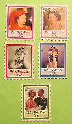Barbados postage stamps 60th Birthday of the Queen