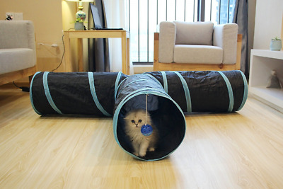 Cat Tunnel Toys 3 Way Collapsible Pet Play Tube Crinkle for Indoor Cats Kittens