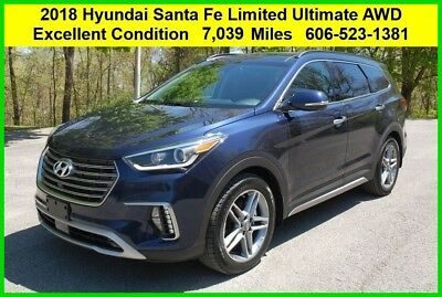2018 Hyundai Santa Fe Limited Ultimate 2018 Hyundai Santa Fe Limited Ultimate Used V6 AWD SUV Car Vehicle Pre Owned