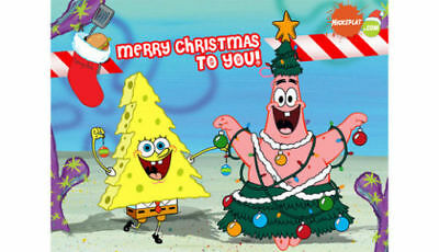 Personalized letter from Santa Claus with SPONGEBOB SQUAREPANTS  Christmas gifts