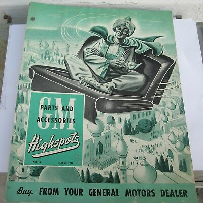 Scarce March 1946 Gm Highspots General Motors Of Canada Parts Brochure  Original
