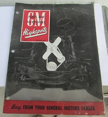 Scarce August 1945 Gm Highspots General Motors Of Canada Parts Brochure Original