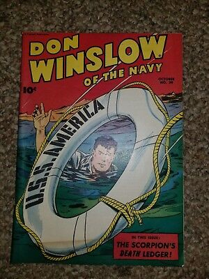 Don Winslow Of The Navy #39 U.S.S. America Comic Rare October 1946