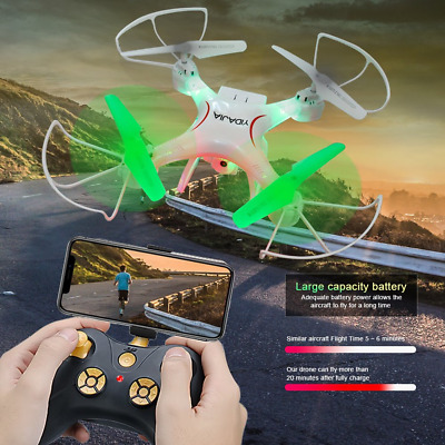 Drone with Camera 20 Min Flight Time RC Quadcopter 6-Axis Gyro 2.4GHz Helicopter