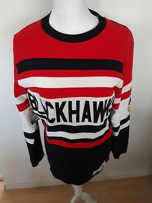 Chicago Blackhawks Shirt Mitchell And Ness Vintage Hockey Size Small Long Sleeve