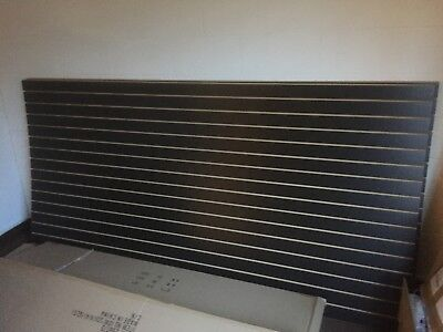 Lot Of Two 4' X 8' Black Color Slatwall Panels For Store Display