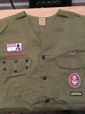Vintage Quapaw Area Council Boy Scout Uniform Shirt with 1964 National Jamboree