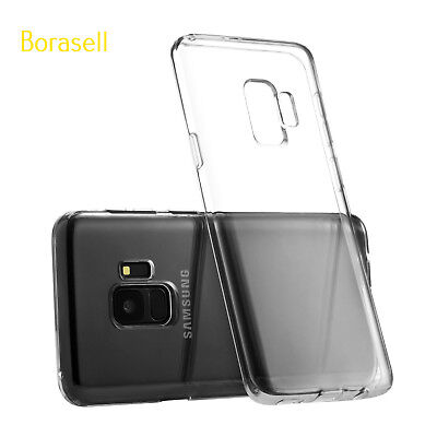 2 Pc For Galaxy S9/S9 Plus Clear Case TPU Rubber Silicone Transparent Cover USA