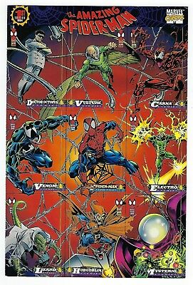 1994 Marvel trading cards Spider Man 1st Edition uncut 9 card PROMO sheet.
