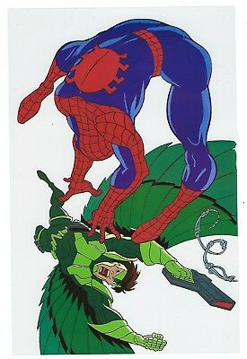 1994 Marvel trading cards Spider Man vs. Vulture Clear Cell sheet PROMO.