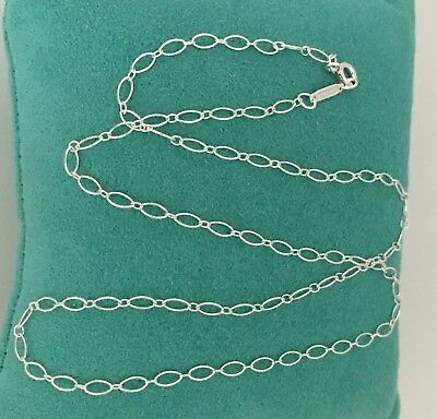 """Tiffany & Co 18"""" Sterling Silver Oval Link Chain Necklace NEW"""