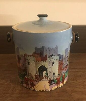 Vintage New Hall Pottery (NHP) Biscuit Barrel – Tower of London