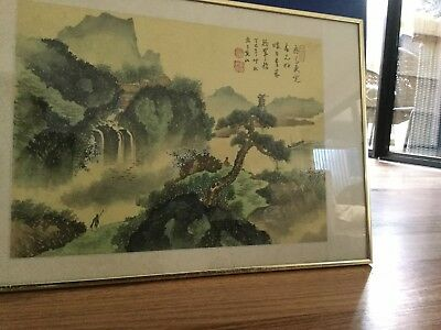 Chinese Hand painting on silk