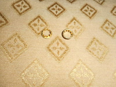 2 x Clock Dial Keyhole Grommets - 10mm - Solid Brass - Faces / Parts/Spares