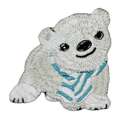 POLAR BEAR  Iron On Embroidered Patch Animals Arctic Zoo