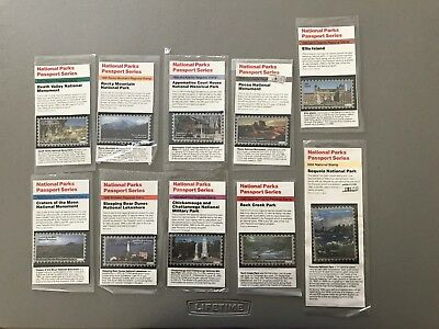 10 PASSPORT TO YOUR NATIONAL PARKS  NPS  1990 STAMP SERIES  Not Cancellation