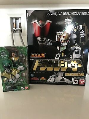 Bandai POWER RANGERS SOUL OF CHOGOKIN DRAGONZORD GX-78 Figure & SHF Green Ranger