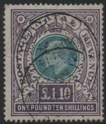NATAL: 1902 Sg 143 £1.10s Green & Violet Good Used Example - Cat £130 (20601)
