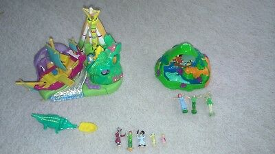 Disney Polly Pocket Peter Pan Neverland Playsets with Figures Vintage Bluebird