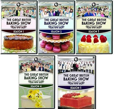 THE GREAT BRITISH BAKING SHOW Complete Seasons 1-5 DVD Bundle NEW 1 2 3 4 5