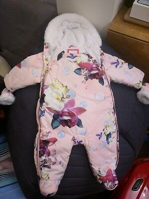 Ted Baker floral all in one 3-6 months snowsuit
