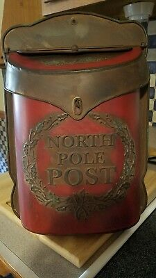 North Pole Mailbox. Vintage Inspired Christmas Card Holder