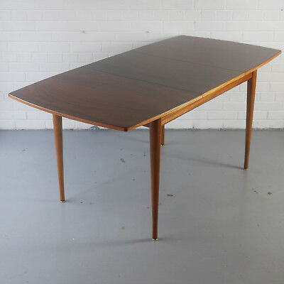 Rosewood and mahogany extending dining table by Uniflex Heals Danish G-Plan