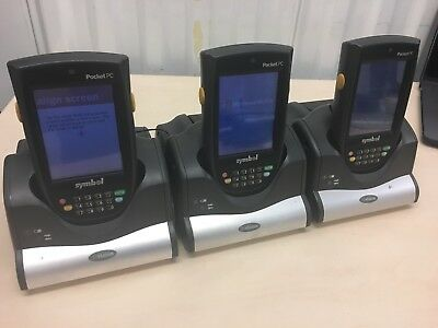 3X Motorola Symbol Ppt8800 Pocket Pc Pda Barcode Scanner Handheld With Cradles