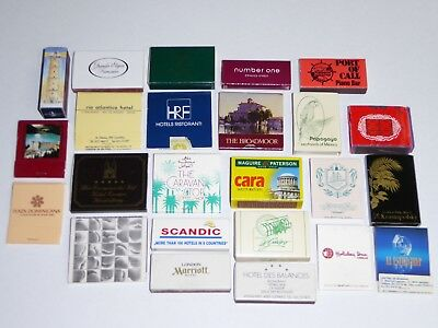 (24) 1970-80s INTERNATIONAL DIFFERENT COUNTRY MATCHBOOKS & BOXES UNUSED NM-MINT
