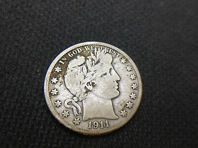 1911-D  Barber Half Dollar  VG F  3 OR MORE FREE SHIPPING  90% Silver   Lot #492