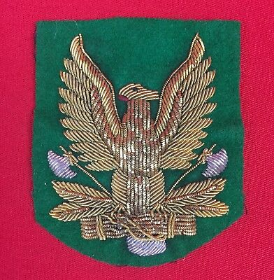 Ww2 Italian Fascist Forestry Militia Arm Badge/shield Officers Original Wwii