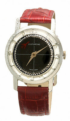 Customtime Swiss Automatic Wristwatch with Airplane Floating Disc Retro CA1960s