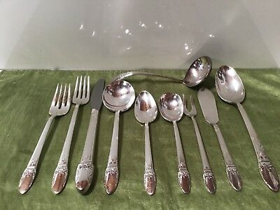 1847 ROGERS IS FIRST LOVE Pattern Full Set of 41 ITEMS Silverplate + STORAGE BOX