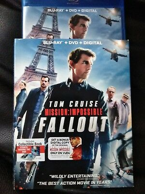 Mission: Impossible Fallout Blu-ray + DVD + bonus disc Tom Cruise Like New