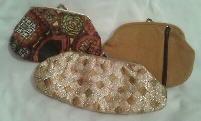 Three Vintage Pouch Purses Bags