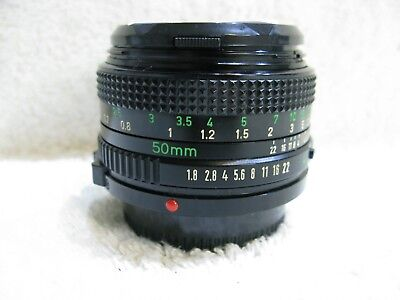 Canon 50mm f1.8 Prime Lens. Canon new FD Mount. Very Usable Condition