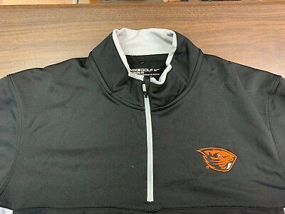 Oregon State Beavers Nike Golf Therma-Fit Black Pullover - Large