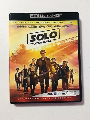 Solo: A Star Wars Story 4K & Bonus Disk With Case & Cover