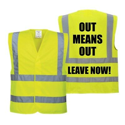 Yellow Jackets (Hi Vis) with printing Back Only