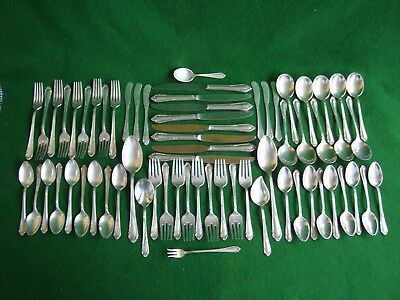 "Vintage Reed and Barton .925 Sterling ""Dancing Flowers"" Flatware 65 Pcs..Total"