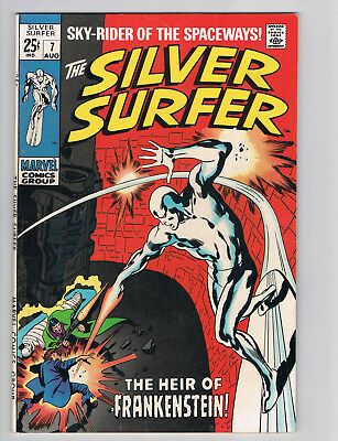 The Silver Surfer #7 (Aug 1969, Marvel) VF/8.0 Grade