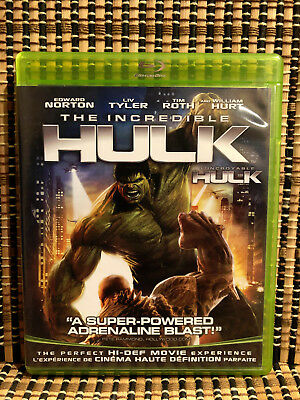The Incredible Hulk (2-Disc Blu-ray/DC, 2008)+Rare Green Case.Marvel Avenger