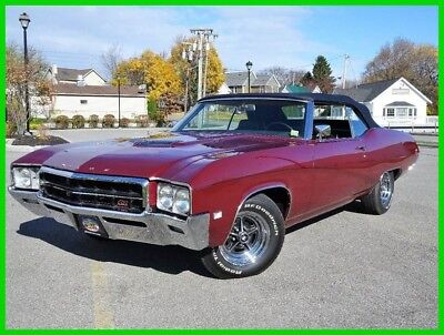 1969 Buick Gran Sport Stage 1 1969 Buick GS 400 STAGE 1 Convertible Frame Off Restored Many Docs LOW RESERVE