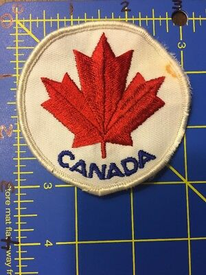 Canada Patch Maple Leaf Royal Canadian Mounted Police Mounties Hockey Badge Oh