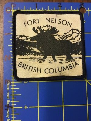 Fort Nelson British Columbia BC Canada Patch Canadian Moose Rocky Mountains NRRM