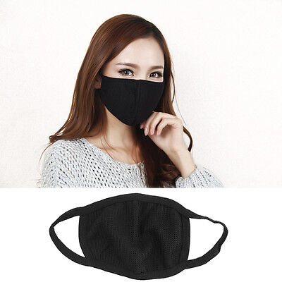 New Fashion Unisex Black Cycling Anti-Dust Cotton Mouth Face Mask Respirator M
