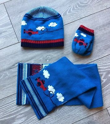 Hat Scarf and Gloves Set, Boy Winter Set, 1-3 Years