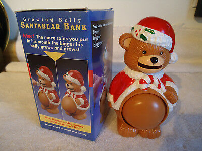 Growing Belly Santa Bear Bank J.S.N.Y - Removable Head to Retrieve Saved Money
