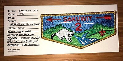 S1 FF First Flap Sakuwit Lodge 2 Gold Mylar New Jersey Sanhican 9 Cowaw