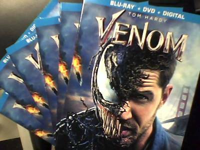 Venom (Bluray, 2018) Bluray Only - Opened - Unwatched Bluray Ships NOW